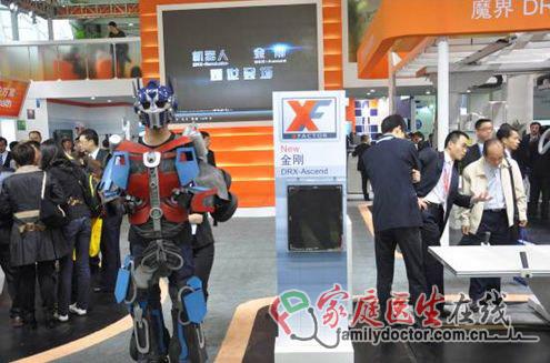 """锐珂""""机器人、金刚""""亮相CMEF """"Vue""""助阵引围观"""