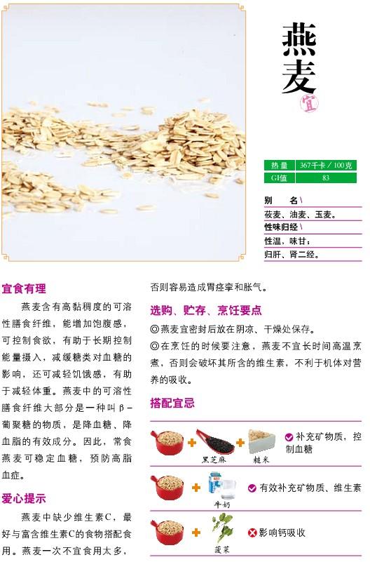 9、宜食食物——燕麦