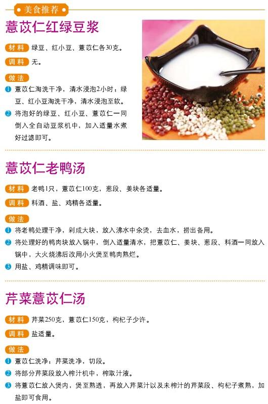 12、宜食食物——薏仁