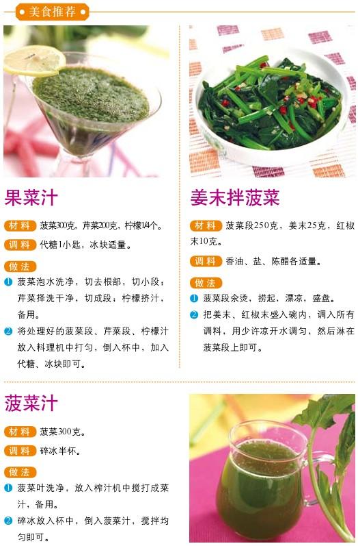 23、宜食食物——菠菜