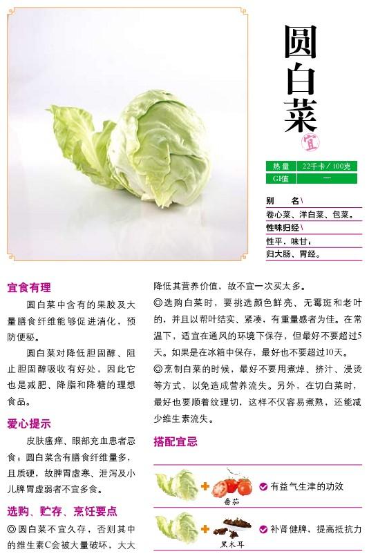 32、宜食蔬菜――圆白菜